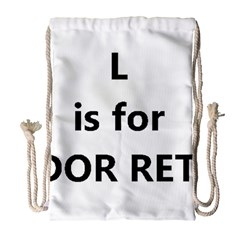 L Is For Lab Drawstring Bag (Large)