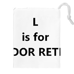 L Is For Lab Drawstring Pouches (XXL)