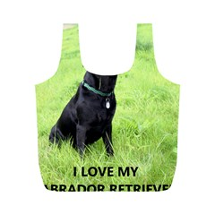 Lab Love W Pic Full Print Recycle Bags (M)