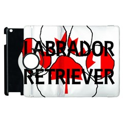 Lab Name Canadian Flag Paw Apple iPad 3/4 Flip 360 Case