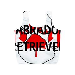 Lab Name Canadian Flag Paw Full Print Recycle Bags (S)