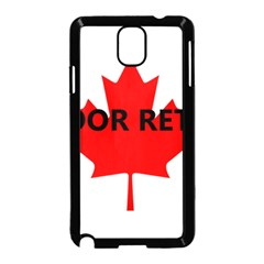 Lab Name Canadian Flag Samsung Galaxy Note 3 Neo Hardshell Case (Black)