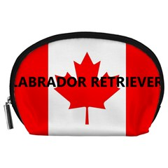 Lab Name Canadian Flag Accessory Pouches (Large)