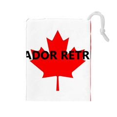 Lab Name Canadian Flag Drawstring Pouches (Large)