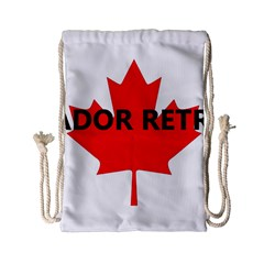 Lab Name Canadian Flag Drawstring Bag (Small)