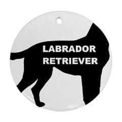 Labrador Retriever Black Name Color Silo Round Ornament (Two Sides)