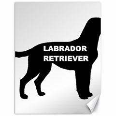 Labrador Retriever Black Name Color Silo Canvas 18  x 24