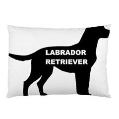 Labrador Retriever Black Name Color Silo Pillow Case