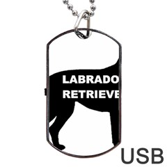 Labrador Retriever Black Name Color Silo Dog Tag USB Flash (Two Sides)