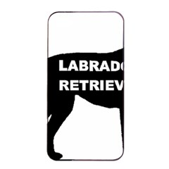 Labrador Retriever Black Name Color Silo Apple iPhone 4/4s Seamless Case (Black)