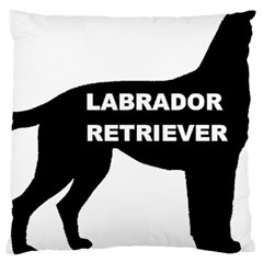 Labrador Retriever Black Name Color Silo Large Cushion Case (One Side)