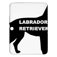 Labrador Retriever Black Name Color Silo Samsung Galaxy Tab 3 (10.1 ) P5200 Hardshell Case