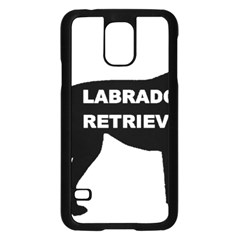 Labrador Retriever Black Name Color Silo Samsung Galaxy S5 Case (Black)