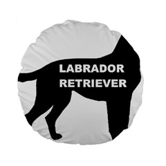 Labrador Retriever Black Name Color Silo Standard 15  Premium Flano Round Cushions