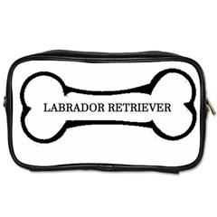Labrador Retriever Dog Bone Toiletries Bags