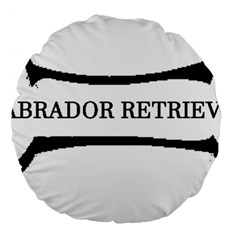 Labrador Retriever Dog Bone Large 18  Premium Round Cushions