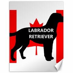Labrador Retriever Name Silo Canadian Flag Canvas 18  x 24