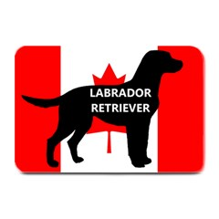 Labrador Retriever Name Silo Canadian Flag Plate Mats