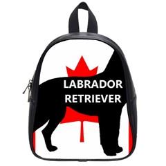 Labrador Retriever Name Silo Canadian Flag School Bags (Small)