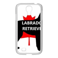 Labrador Retriever Name Silo Canadian Flag Samsung GALAXY S4 I9500/ I9505 Case (White)