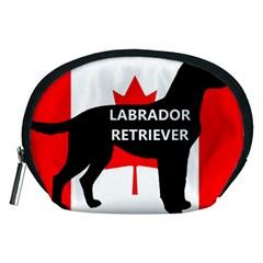 Labrador Retriever Name Silo Canadian Flag Accessory Pouches (Medium)