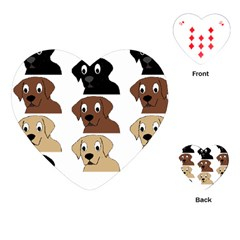 Labs 3 Colors Cartoon Head Playing Cards (Heart)