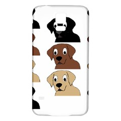 Labs 3 Colors Cartoon Head Samsung Galaxy S5 Back Case (White)