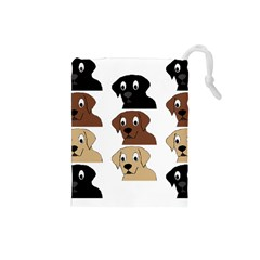 Labs 3 Colors Cartoon Head Drawstring Pouches (Small)