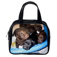 Litter Of Lab Pups Classic Handbags (One Side)