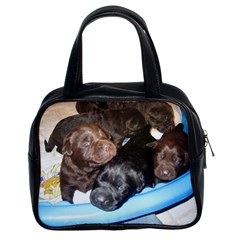 Litter Of Lab Pups Classic Handbags (2 Sides)
