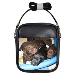 Litter Of Lab Pups Girls Sling Bags