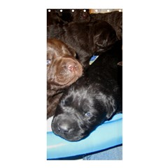 Litter Of Lab Pups Shower Curtain 36  x 72  (Stall)