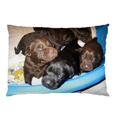 Litter Of Lab Pups Pillow Case (Two Sides)