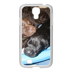 Litter Of Lab Pups Samsung GALAXY S4 I9500/ I9505 Case (White)