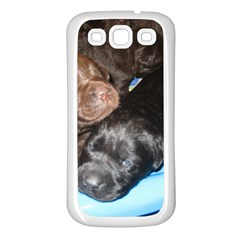 Litter Of Lab Pups Samsung Galaxy S3 Back Case (White)
