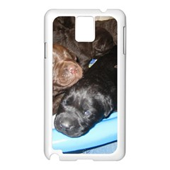 Litter Of Lab Pups Samsung Galaxy Note 3 N9005 Case (White)