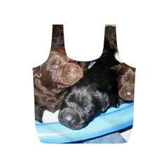 Litter Of Lab Pups Full Print Recycle Bags (S)