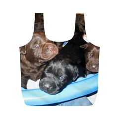 Litter Of Lab Pups Full Print Recycle Bags (M)