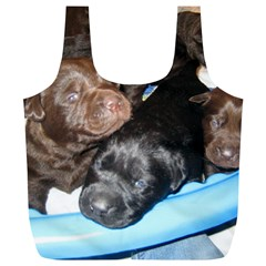 Litter Of Lab Pups Full Print Recycle Bags (L)