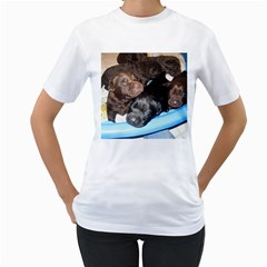 Litter Of Lab Pups Women s T-Shirt (White)