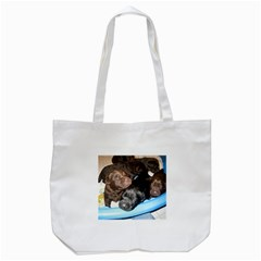 Litter Of Lab Pups Tote Bag (White)