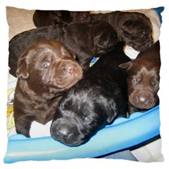 Litter Of Lab Pups Standard Flano Cushion Case (One Side)