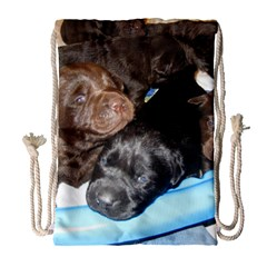 Litter Of Lab Pups Drawstring Bag (Large)