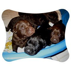 Litter Of Lab Pups Jigsaw Puzzle Photo Stand (Bow)