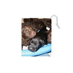 Litter Of Lab Pups Drawstring Pouches (XS)