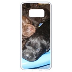 Litter Of Lab Pups Samsung Galaxy S8 White Seamless Case