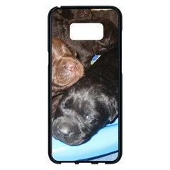 Litter Of Lab Pups Samsung Galaxy S8 Plus Black Seamless Case