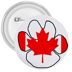 Mega Paw Canadian Flag 3  Buttons