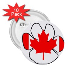 Mega Paw Canadian Flag 2.25  Buttons (10 pack)