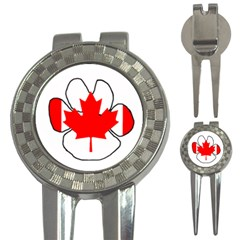 Mega Paw Canadian Flag 3-in-1 Golf Divots